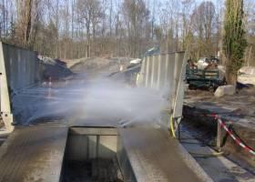 Мойка грузовых колес на стройплощадке